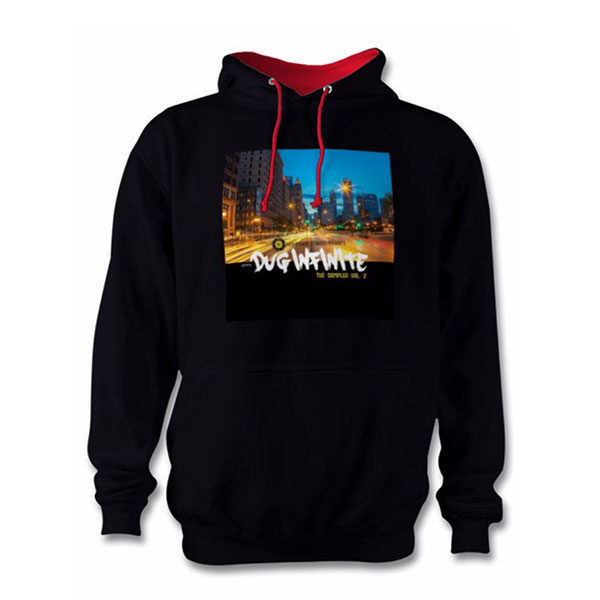 "Dug Inf ""The Sampler Vol. 2"" Hoodie - Black/Red"